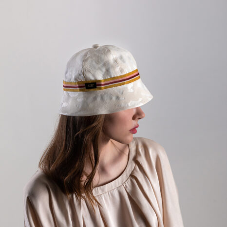 LINEN BROCADE SUMMER BUCKET HAT